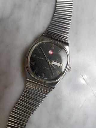 Rado Voyager 17J Auto Day/Date 1980's Vintage Men Watch.