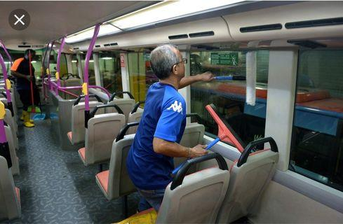 Bus cleaner