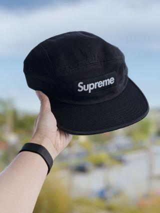 BNWT Supreme Washed Chino Twill Camp Cap SS19