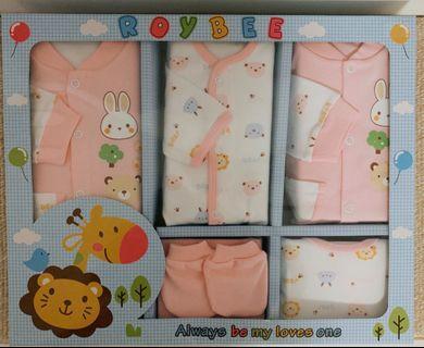 Roybee 0-6 months 初生嬰兒5件禮盒