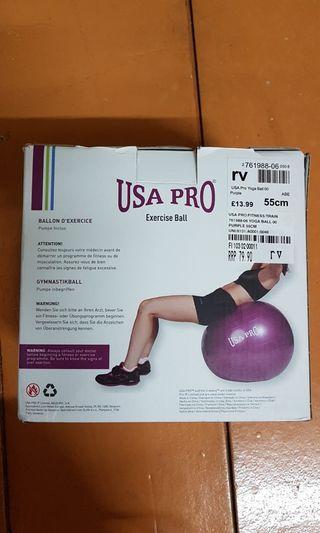 Exercise ball 55cm USA pro