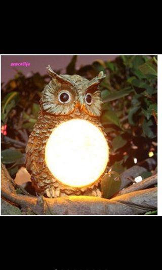 🚚 貓頭鷹太陽能夜燈