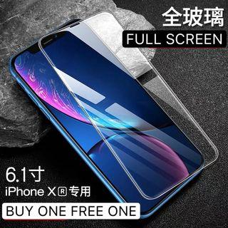 IPHONE XR FULL TEMPERED GLASS  BUY ONE FREE ONE