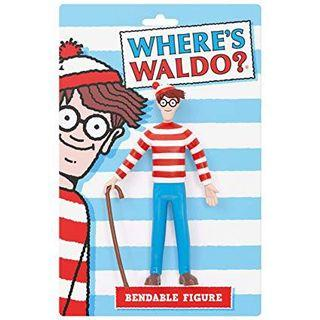 🚚 Where's Waldo ? 威利在哪裏 鐵絲 軟膠公仔 BENDABLE 吊卡 美式玩具 收藏 擺件