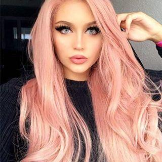 🚚 Pink wig 12 inches long
