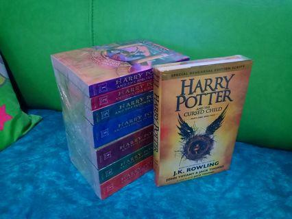 Harry Potter Set #1-7 w/HP Cursed Child HB #8