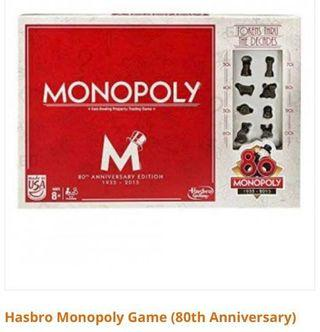 Monopoly 80th anniversary collectible edition