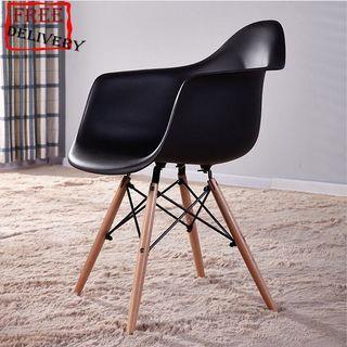 Eames chair/Study chair/Ergonomic chair/B Black,White