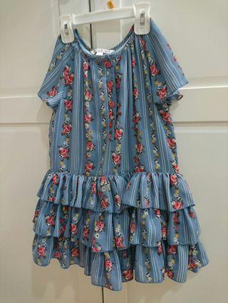 9成新 Pippa & Julie 雪紡花朵 質感超好的洋裝 衣標5號約100cm適穿 售$359