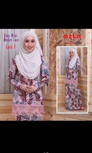 Rose Mini Moden Lace Azka Collection ( Ready Stok XS-XL ) #GayaRaya
