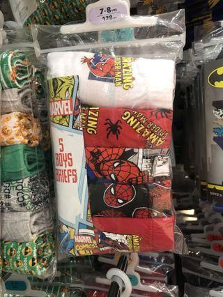 英國spider man 底褲5條裝