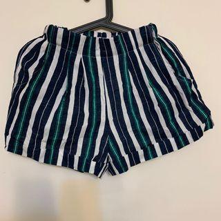 全新韓版條紋短褲