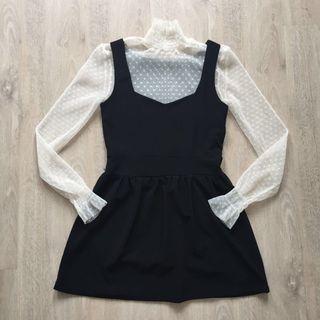 Korean little black skater dress