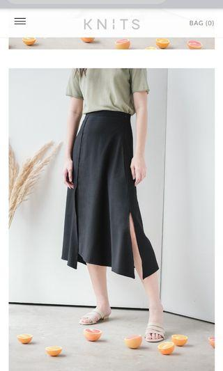 Knits capsule slit panel skirt tagged M but fits UK4-10