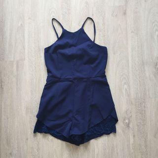 Navy blue casual romper/ jumpsuit