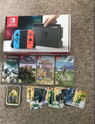 Nintendo switch - 32GB console - with games and accessories