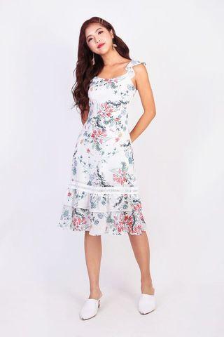 MGP Label Deena Floral Midi Dress