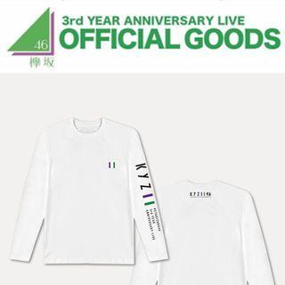 Keyakizaka46 - 3rd Anniversary Live Long Sleeve T-shirt