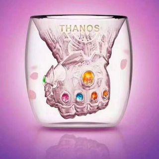 🚚 Marvel Thanos Mug double wall glass drink ware