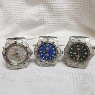 Tag Heuer Classic 2000 Series blue, black and silver dials new old stock
