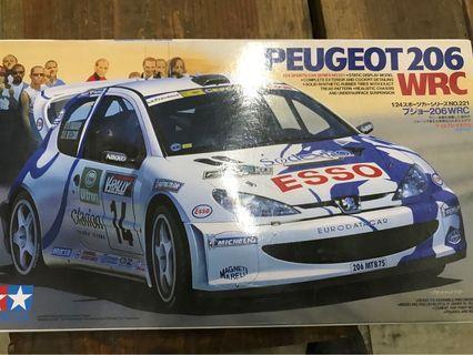 雙星Tamiya 1/24 206 WRC