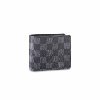 grey checkered multiple wallet