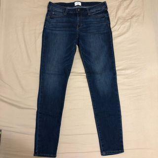 🚚 NET 深藍牛仔褲 窄管牛仔褲