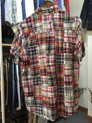 實體店 可試 beams patchwork shirt