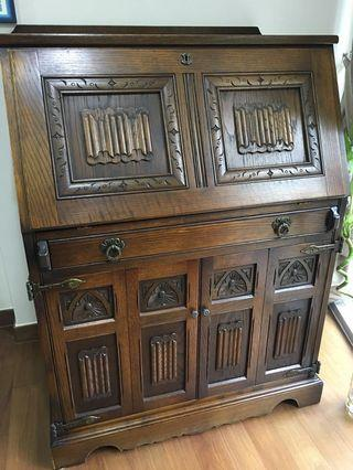 Old English Solid Wood Study Table