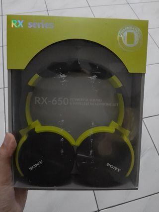 Headphone Sony RX-650 wireless NEW!