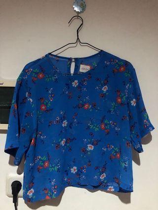 Blue Floral Top