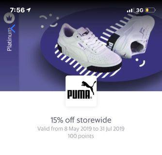 Puma 15% off storewide voucher