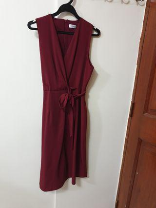 🚚 Office Dress with Sewn On Side sash (Untied)
