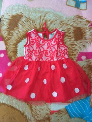 Dress baby merah