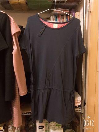 🚚 深藍色專櫃夏天短袖居家服 可換物