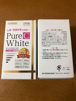 日本 Pure White 美白錠
