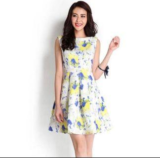 Lilypirates Dress yellow abstract size S