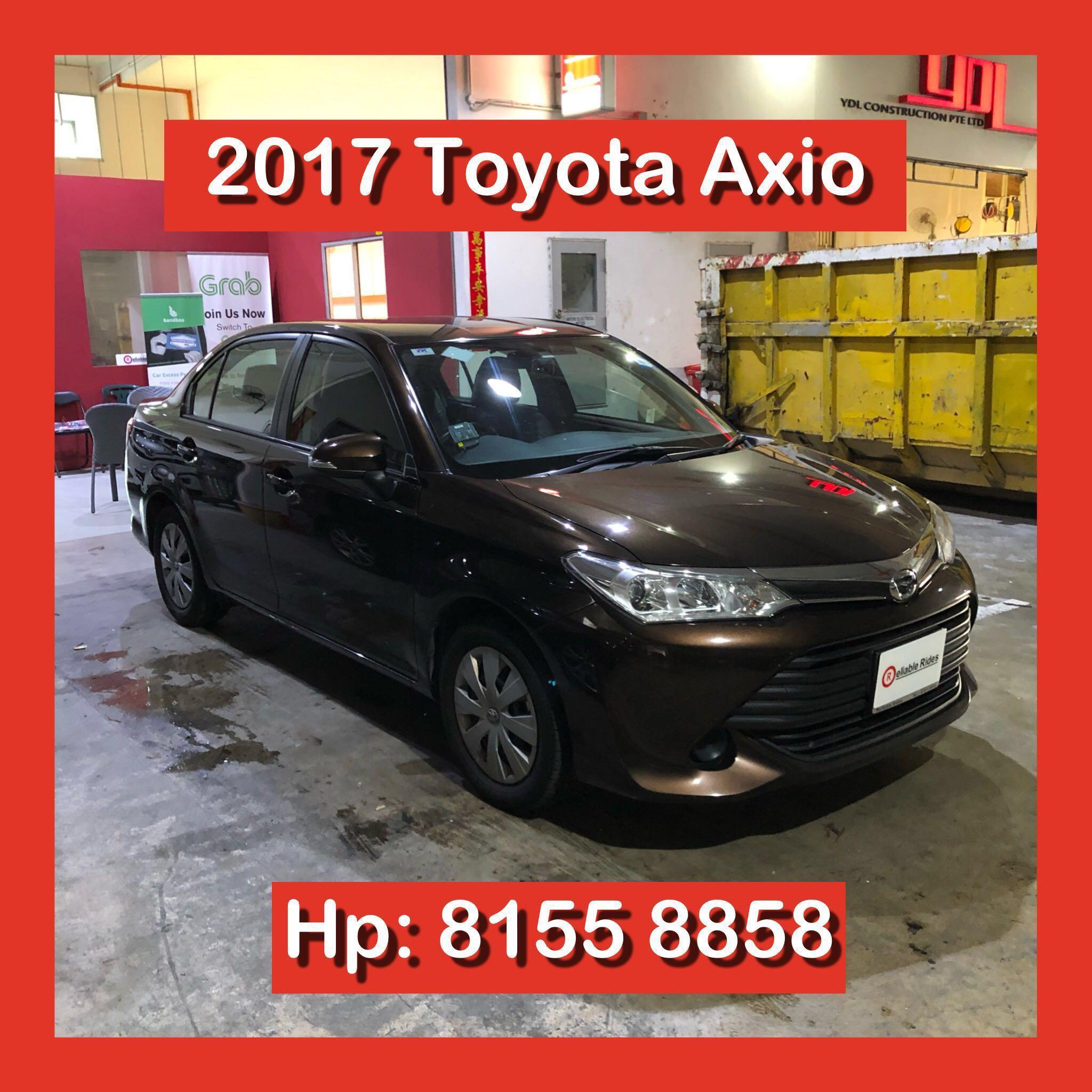 2017 Toyota Axio Grab Car Rental