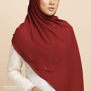 Extra long shawl with diamante