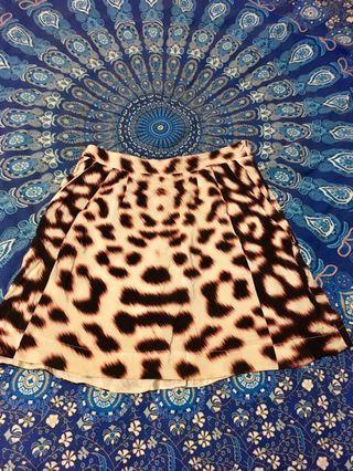 Kookai Silk Print Skirt Size 38
