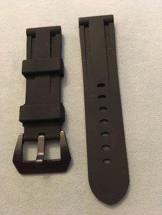 🚚 High Quality Watch Rubber Strap - 24mm