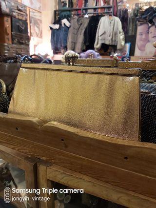 早期復古包 金色手拿包
