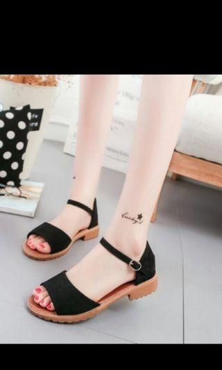 (No instocks!!)Preorder korean block heels flat sandals shoes * waiting time 15 days after payment is made *chat to buy to order
