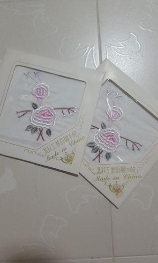 Embrodiered Handkerchief x 2pcs