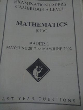 A-LEVEL MATHS PAPER 1