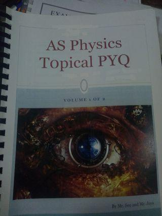 A-LEVEL PHYSICS TOPICAL VOL 1