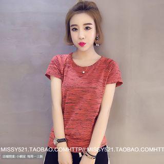 Women's Korean-style Quick Dry Elastic Short Sleeve T-Shirt