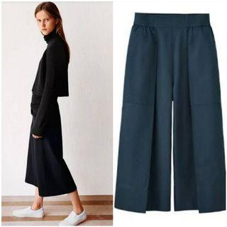 Uniqlo and lemaire oxford wide leg pants black