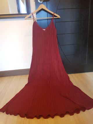 MNG long Slip Dress
