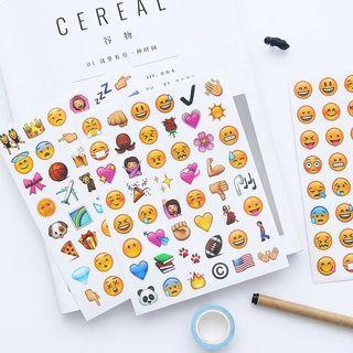4 Sheets/Set 192 Emoji Stickers